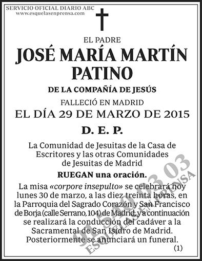 José María Martín Patiño